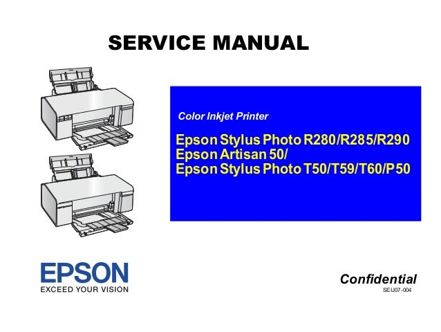 t50 manual de servicio rh slideshare net Epson R280 CIS epson stylus photo r280 user manual