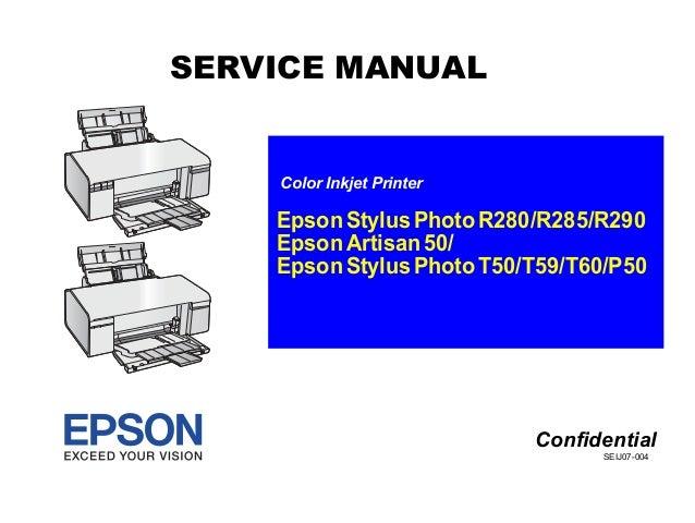 t50 manual de servicio rh slideshare net epson r280 manual head cleaning epson printer r280 manual