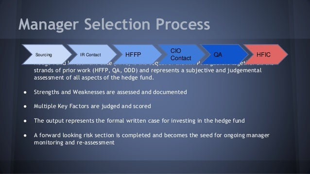 Hedgefund Selection Process for Family Offices and FoHFs ... Qualitative Data Analysis Process