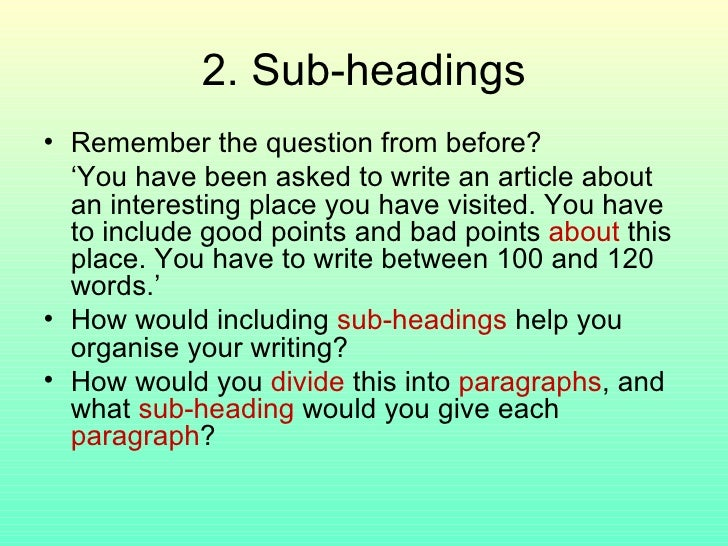 writing articles ppt