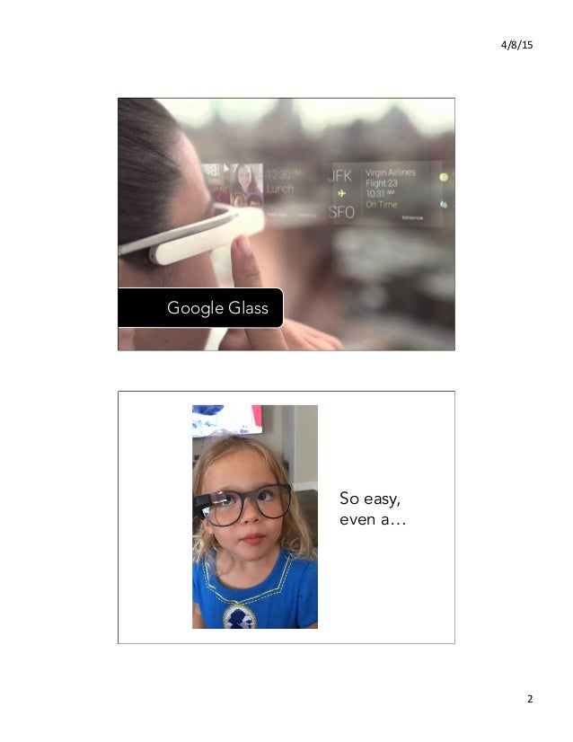 4/8/15   2   Google Glass So easy, even a…