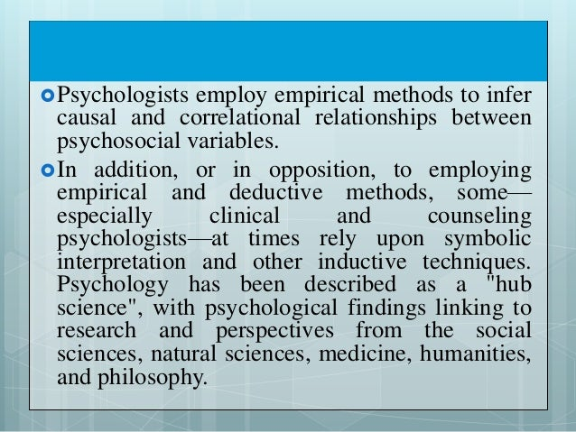 An introduction to the psychology the science of behavior and mental processes