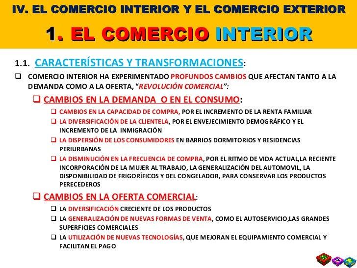 T 7 4 el comercio interior y el comercio exterior for Comercio exteriro