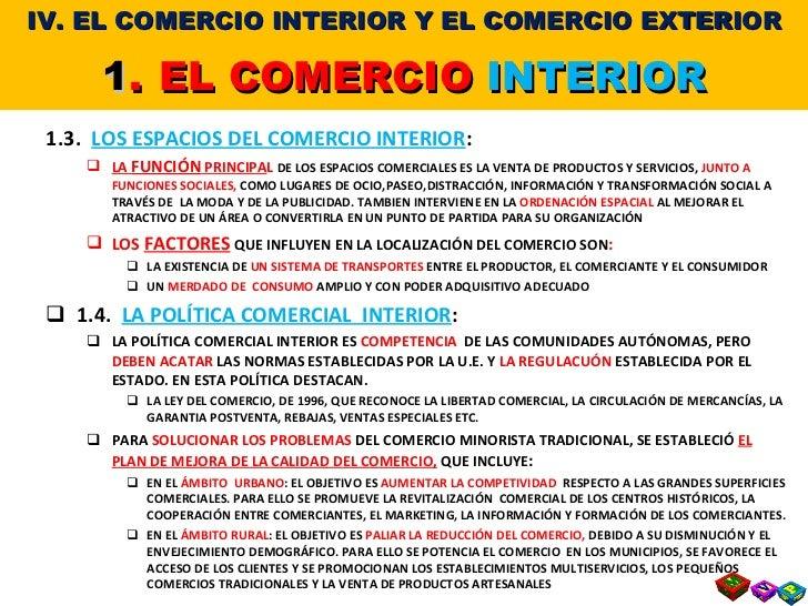 T 7 4 el comercio interior y el comercio exterior for Que es el comercio interior