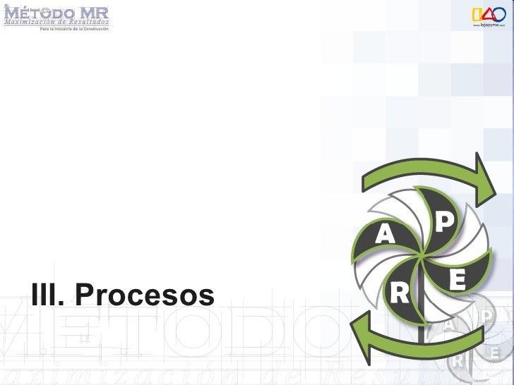 III. Procesos