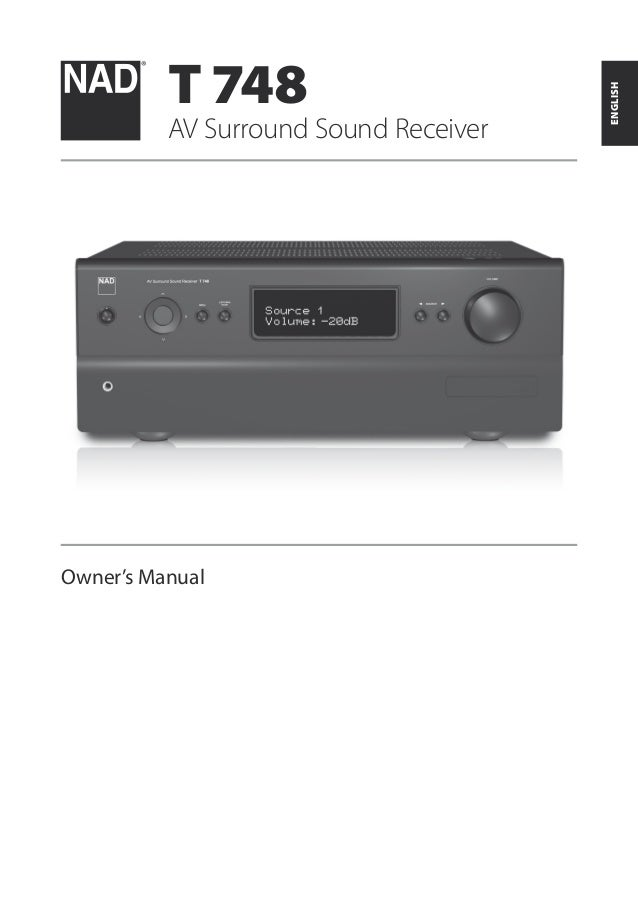 t748 a v surround sound receiver english manual rh slideshare net Nad 5 1 Nad Viso Five
