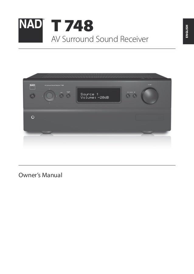 t748 a v surround sound receiver english manual rh slideshare net RCA AV Receiver RCA AV Receiver