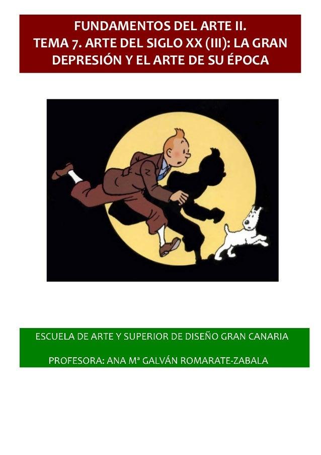 APUNTES FUNDAMENTOS DEL ARTE II: TEMA 7. LA GRAN DEPRESIÓN DE LOS AÑO…