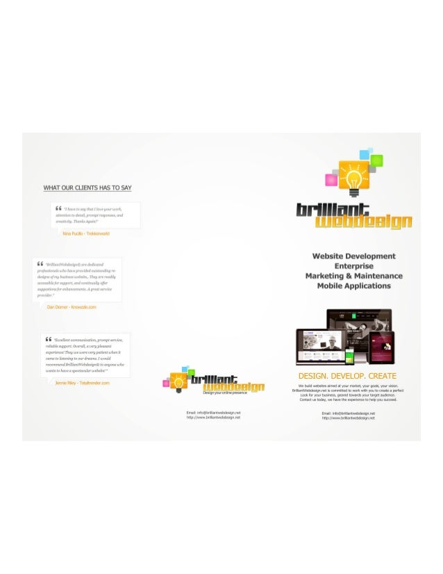 What Our Clients Say About Brilliantwebdesign.net