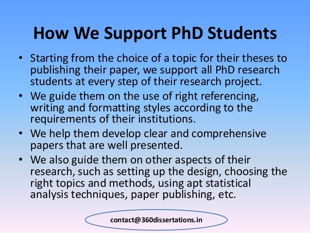 Dissertation help india