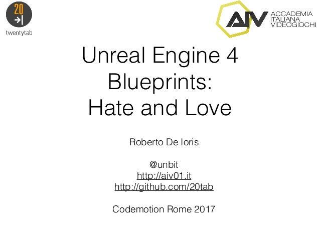 Unreal engine 4 blueprints odio e amore roberto de ioris codemotio unreal engine 4 blueprints hate and love roberto de ioris unbit http malvernweather Image collections