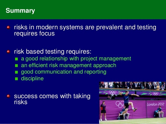 Modern Approach To Classroom Management ~ Risk based testing not for the fainthearted