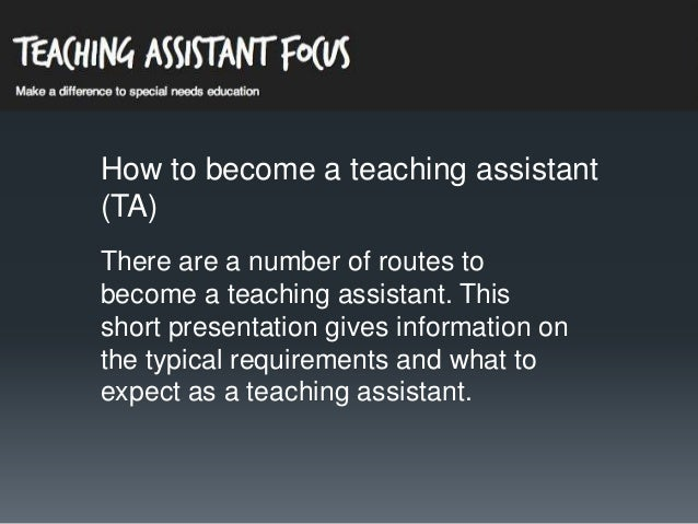 How to become a Teaching Assistant in the UK
