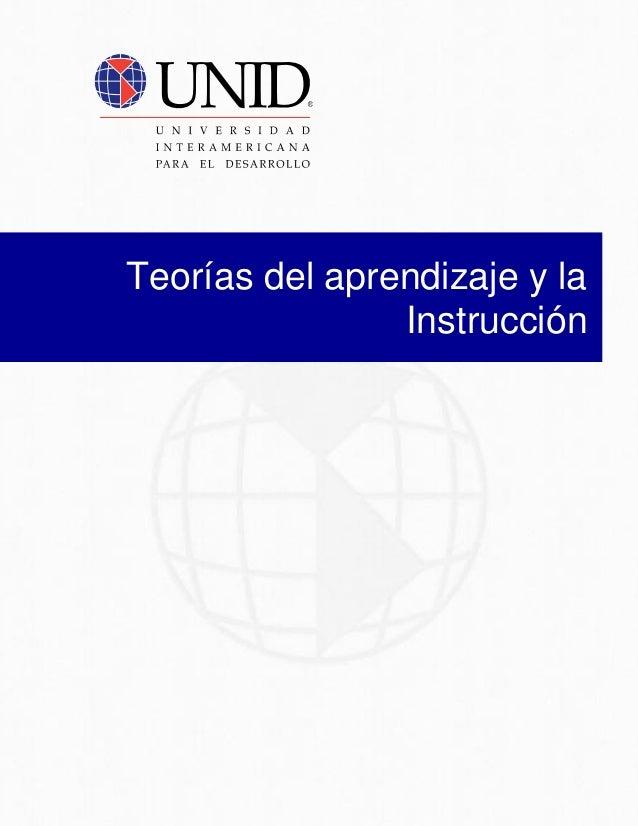 Teorías del aprendizaje y la Instrucción