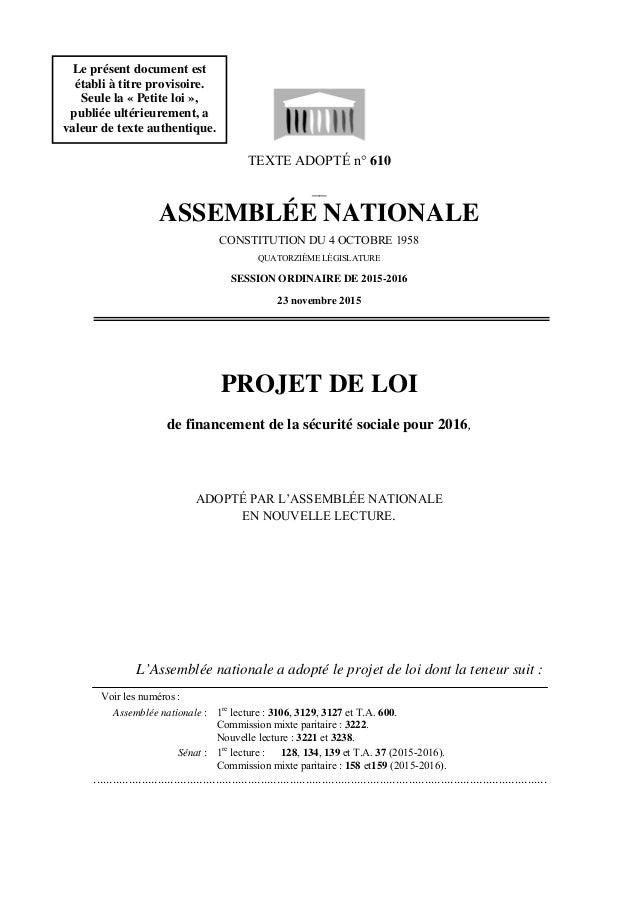TEXTE ADOPTÉ n° 610 __ ASSEMBLÉE NATIONALE CONSTITUTION DU 4 OCTOBRE 1958 QUATORZIÈME LÉGISLATURE SESSION ORDINAIRE DE 201...