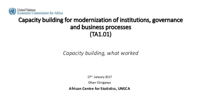 Capacity building for modernization of institutions, governance and business processes (TA1.01) Capacity building, what wo...