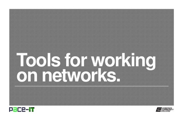 Tools for working on networks.