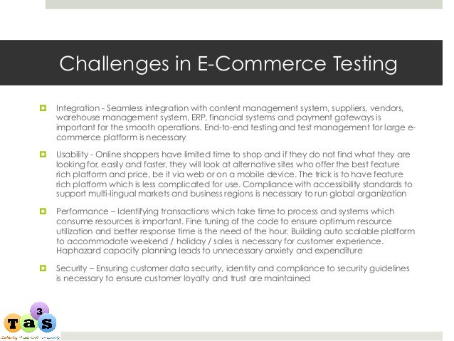 ta3s e commerce testing offering