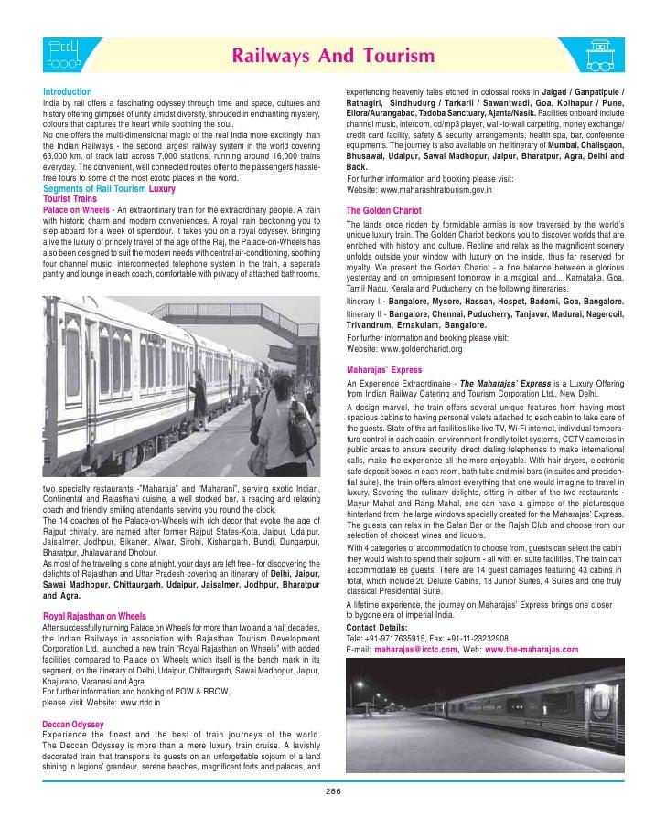 Railways And TourismIntroduction                                                                                     exper...