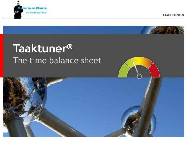 Taaktuner® The time balance sheet