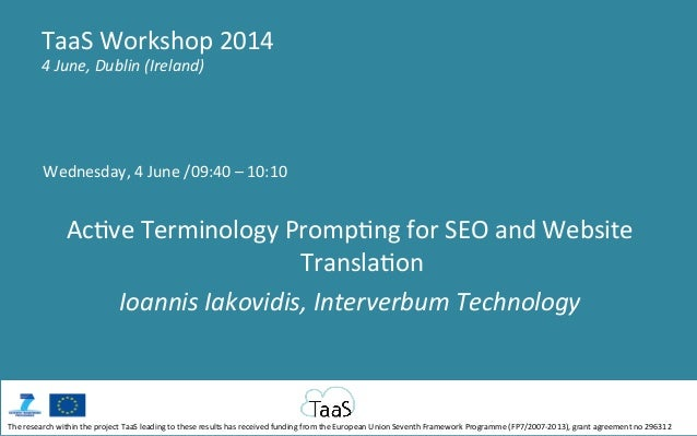 Wednesday,  4  June  /09:40  –  10:10      Ac5ve  Terminology  Promp5ng  for  SEO  and  Website...
