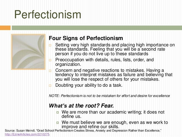 Academic Anxiety How Perfectionism And >> Writing Scared How To Overcome The Perfectionism