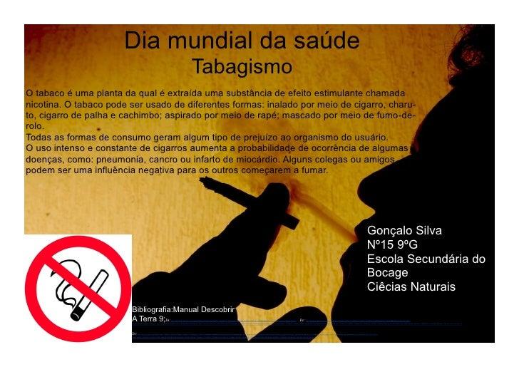 Dia mundial da saúde                                                                                                 Tabag...