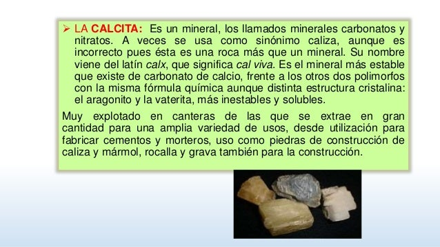 La caliza for Marmol formula quimica