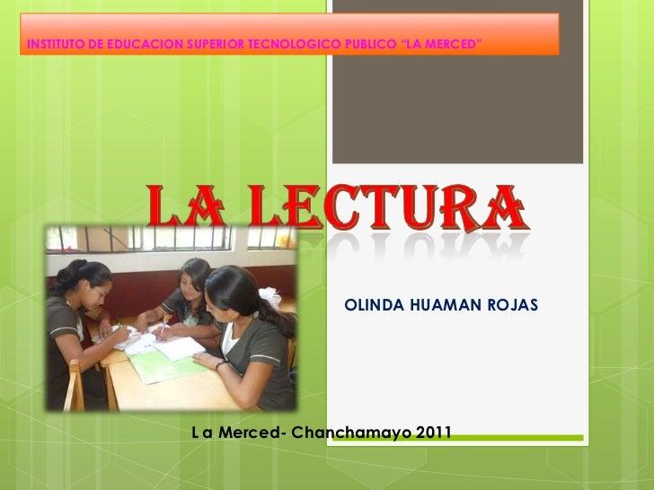 "INSTITUTO DE EDUCACION SUPERIOR TECNOLOGICO PUBLICO ""LA MERCED""                                           OLINDA HUAMAN RO..."