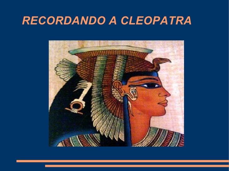 RECORDANDO A CLEOPATRA Título