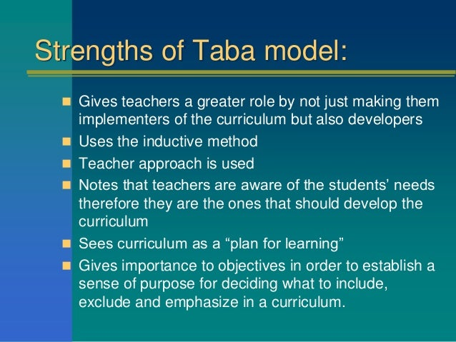What Is the Difference Between Ralph Tyler's and Hilda Taba's Theory of Curriculum?