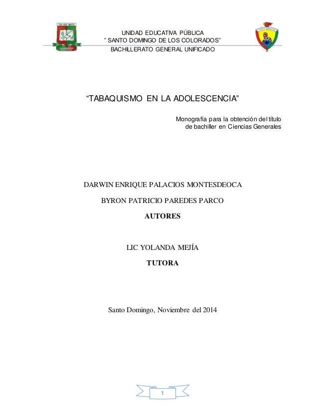 Monografia Tabaquismo 1 Byron Paredes