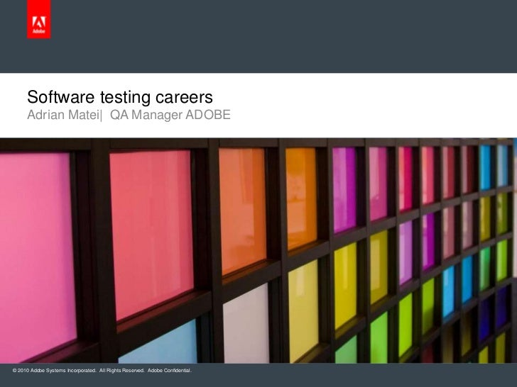 Adrian Matei|  QA Manager ADOBE<br />Software testing careers<br />