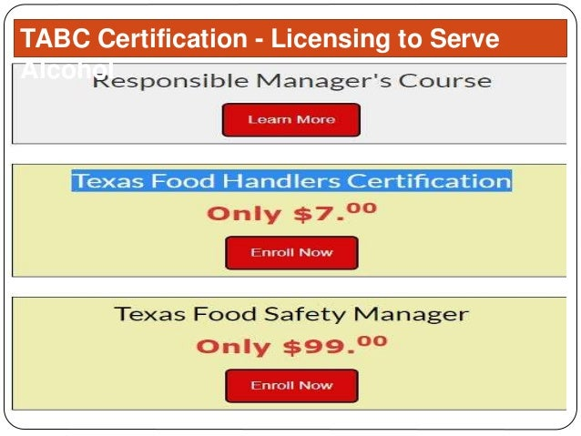 tabc certification alcohol licensing serve