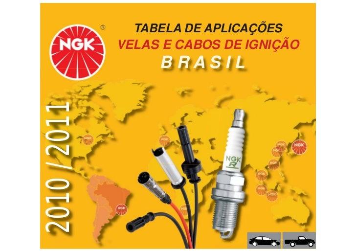 TABELA DE APLICAÇÕES               VELAS E CABOS DE IGNIÇÃO 2010 / 2011        BRASIL