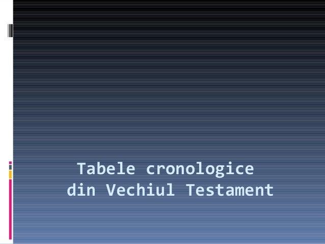 Tabele cronologice din Vechiul Testament