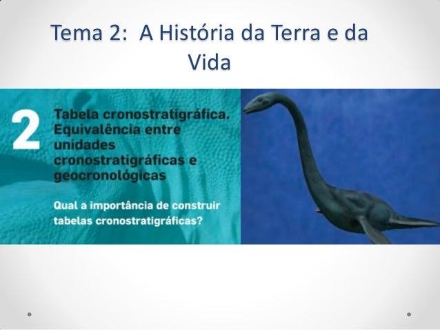 Tema 2: A História da Terra e da             Vida