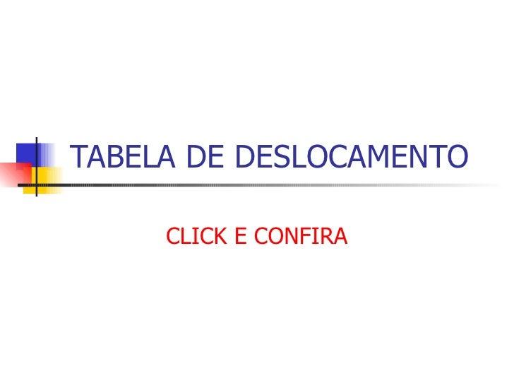 TABELA DE DESLOCAMENTO CLICK E CONFIRA