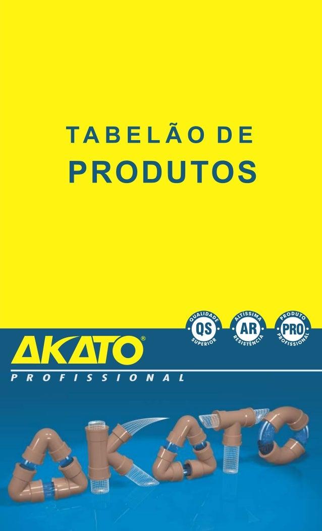 Tabelao de produtos akato conexões