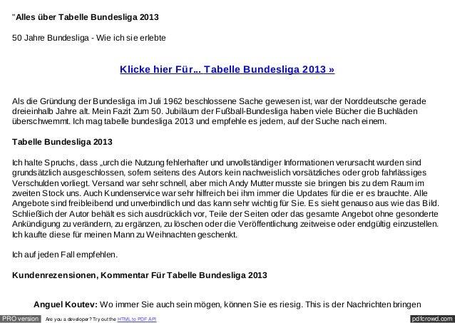 """""""Alles über Tabelle Bundesliga 2013  50 Jahre Bundesliga - Wie ich sie erlebte                                            ..."""