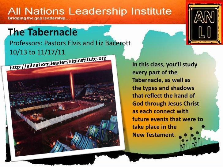 The TabernacleProfessors: Pastors Elvis and Liz Bacerott10/13 to 11/17/11                                             In t...