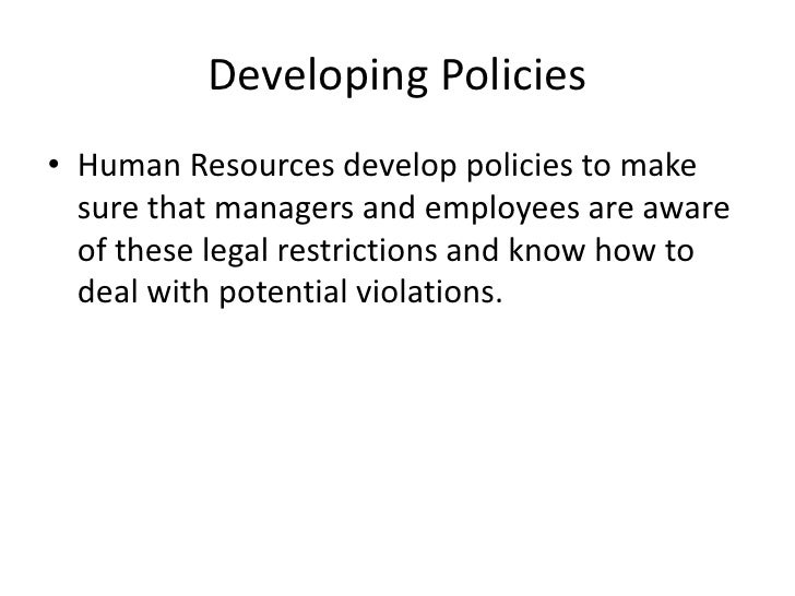 legal issues in human resources management essay Human resource management (hrm), or human resource development, entails planning, implementing, and managing recruitment, as well as selection, training, career, and organizational development initiatives within an organization.