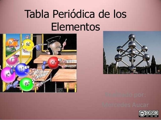 Tabla Periódica de los Elementos Realizado por: Mercedes Aucar