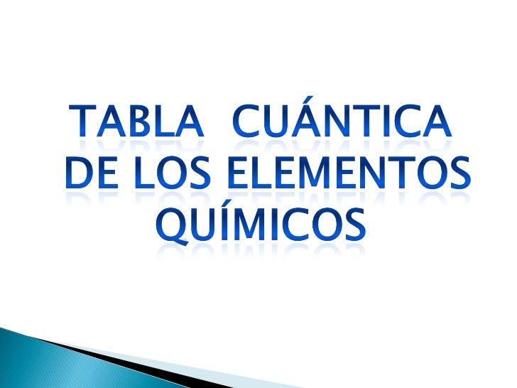 Tabla cuantica de los elementos quimicos urtaz Gallery