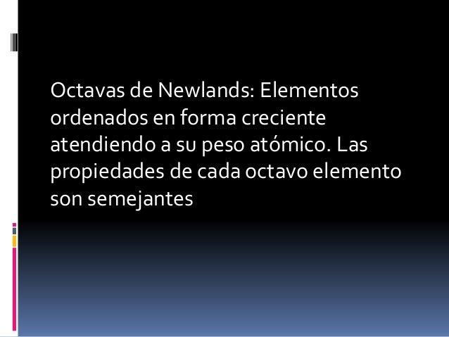 Tabla periodica completa las propiedades de cada octavo elemento son semejantes 5 ley peridica urtaz Images