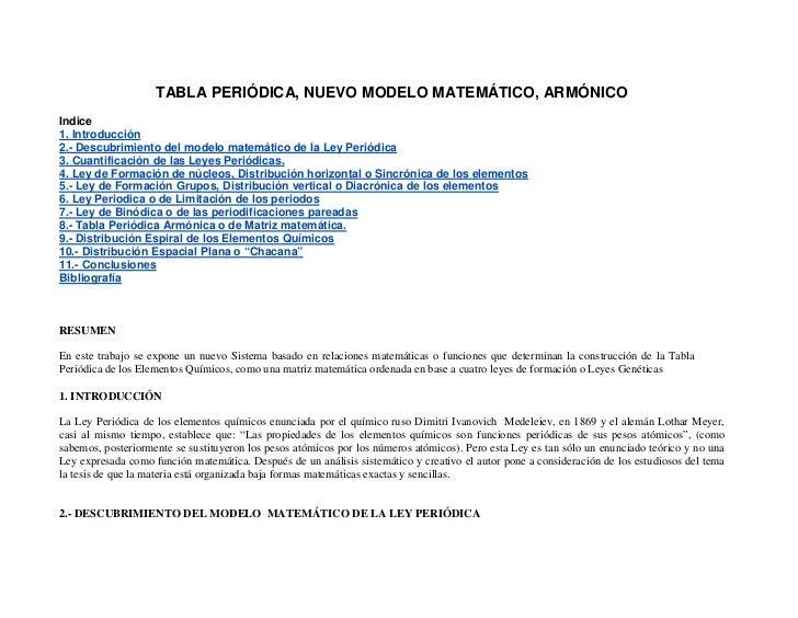 Tabla periodica nuevo modelo tabla peridica nuevo modelo matemtico armnicoindice1 introduccin2 descubrimiento del modelo matemtico urtaz Image collections
