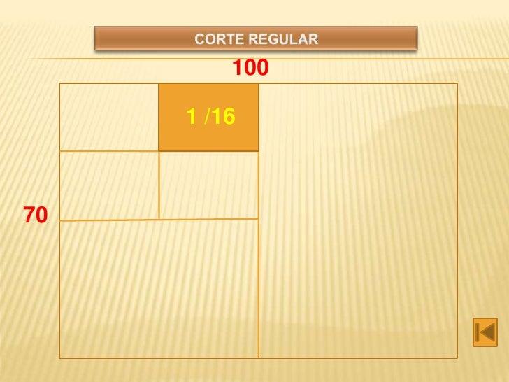 Tabla de cortes for 1 cuarto de cartulina