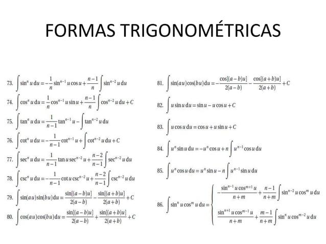 FORMAS TRIGONOMÉTRICAS