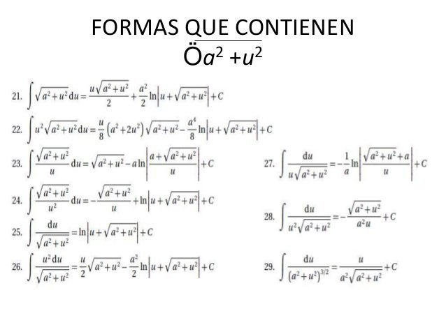 FORMAS QUE CONTIENEN Öa2 +u2