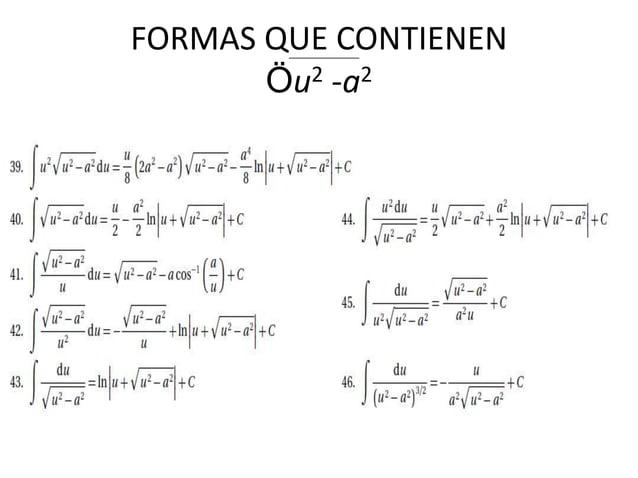 FORMAS QUE CONTIENEN Öu2 -a2